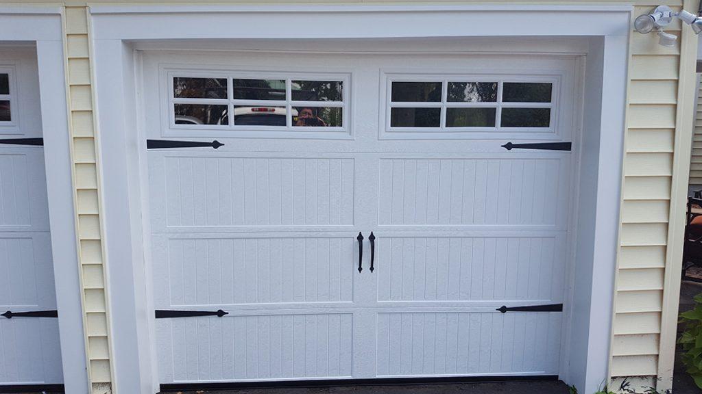 Photo of white garage door