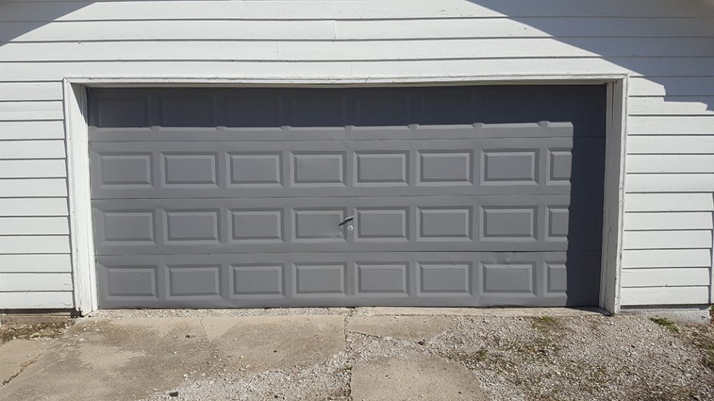 Photo of brown garage door
